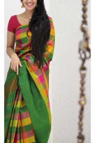 Unique Multi  Color Soft Silk Saree - cnd1149
