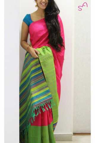 Unique Pink Color Soft Silk Saree - cnd1160