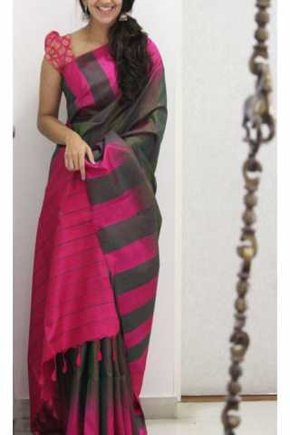 Unique Multi Color Soft Silk Saree - cnd1168