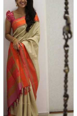 Unique Multi Color Soft Silk Saree - cnd1174