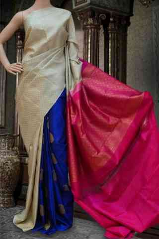 Beautiful Multi Soft Silk Saree - cnd586