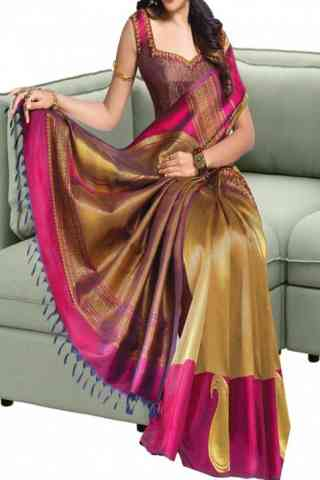 Modern Multi Color Soft Silk Saree - cnd588