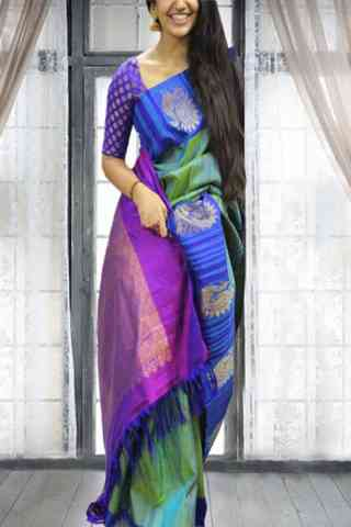 Vivacious Multi Color Soft Silk Saree - cnd593
