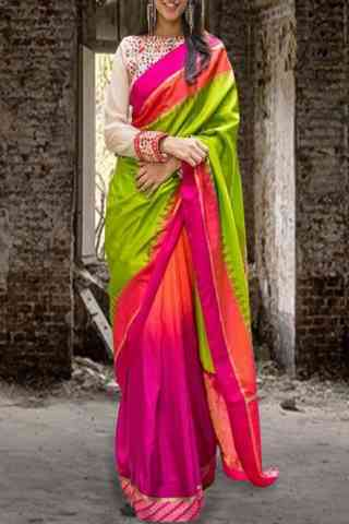 Fashionable Green Color Pattern Soft Silk Saree - cnd606