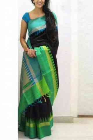 Outstanding Black Color Soft Silk Designer Sarees-cnd637