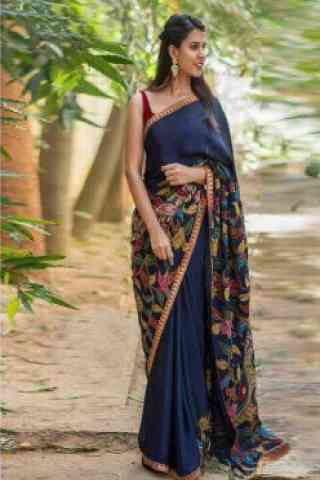 Divine Blue Color Soft Silk Designer Sarees-cnd639