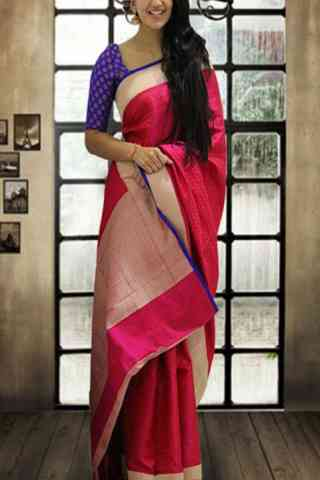 Glorious Pink Color Soft Silk Designer Sarees-cnd647