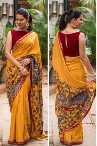 Flawless Yellow Color Soft Silk Designer Sarees-cnd649