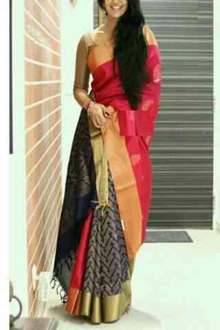 Stylish Multi Color Soft Silk Designer Sarees - cnd668