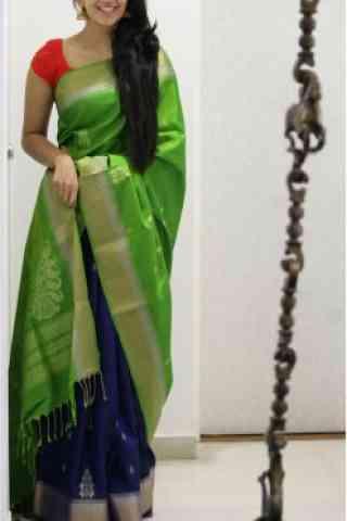 Outstanding Green Color Soft Silk Designer Sarees - cnd685