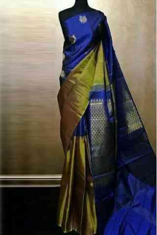 Latest  Blue Soft Silk Designer Sarees-cnd693