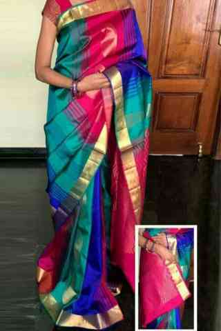 Elegance Multi Color Soft Silk Designer Sarees - cnd717