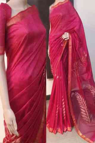 Delightful Pink Color Soft Silk Saree - cnd728