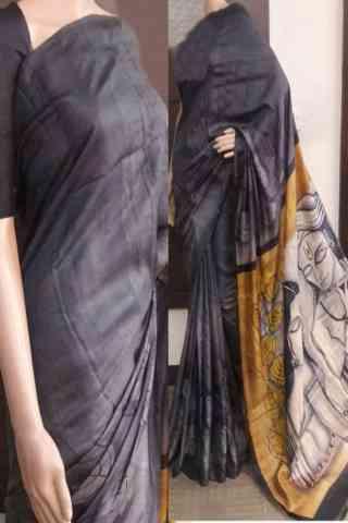 Delightful Grey Color Soft Silk Saree - cnd732