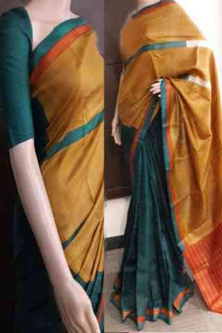 Evergreen Multi Color Soft Silk Saree - cnd733