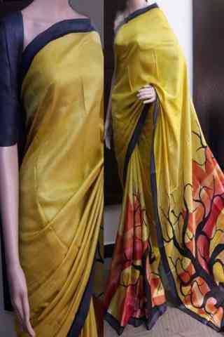 Delightful Yellow Color Soft Silk Saree - cnd741