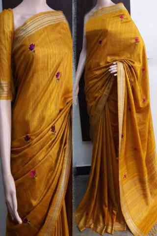 Scintillating Yellow Color Soft Silk Saree - cnd742