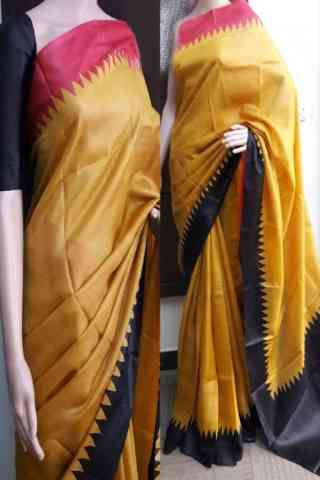 Glorious Yellow Color Soft Silk Saree - cnd743