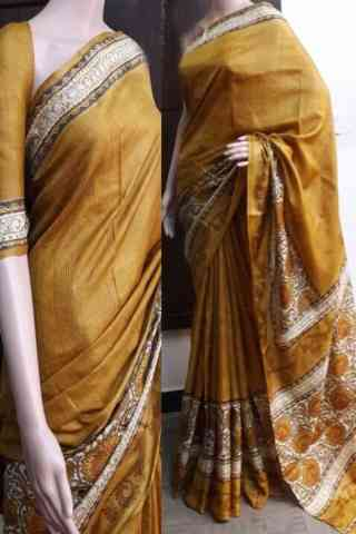 Mind Blowing Yellow Color Soft Silk Saree - cnd750