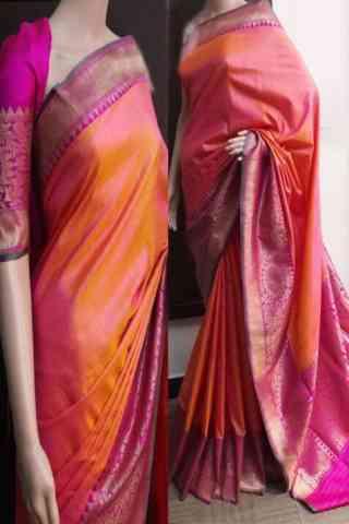 Delightful Multi Color Soft Silk Saree - cnd753