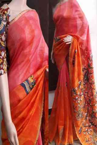 Blooming Multi Color Soft Silk Saree - cnd754