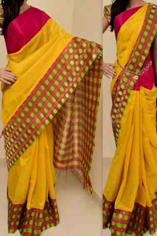Stimulating  Multi Color Soft Silk Saree - cnd760