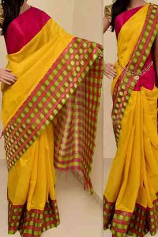 Stimulating  Multi Color Soft Silk Saree - cnd760