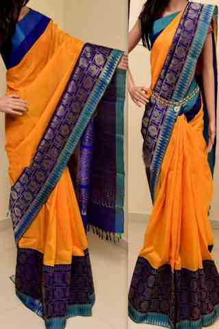 Blooming Multi Color Soft Silk Saree - cnd766