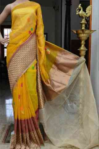 Charming Yellow Color Soft Silk Designer Sarees - cnd890