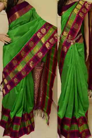 Charming Green Color Soft Silk Designer Sarees - cnd893