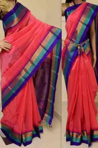 Charming Pink Color Soft Silk Designer Sarees - cnd894