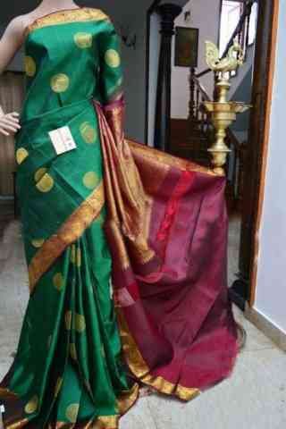 Glorious Green Color Soft Silk Designer Sarees - cnd903