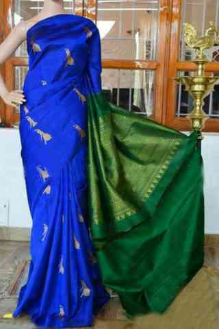 Pretty Blue Color Soft Silk Designer Sarees - cnd907