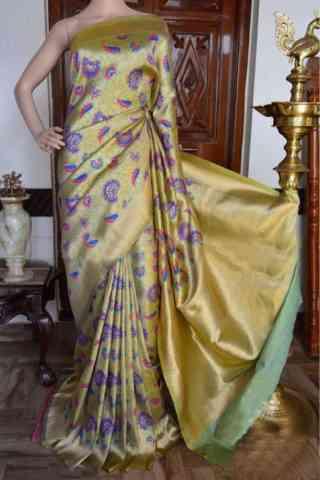 Pretty beige Color Soft Silk Designer Sarees - cnd909
