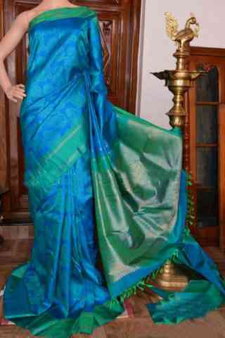 Stylish Blue Color Soft Silk Designer Sarees - cnd918