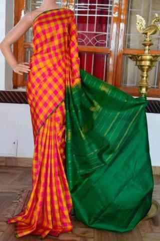 Glammrous Multi Color Soft Silk Designer Sarees - cnd925