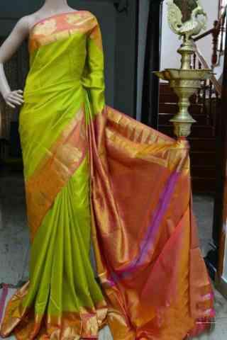 Mind Blowing Green Color Soft Silk Designer Sarees - cnd951