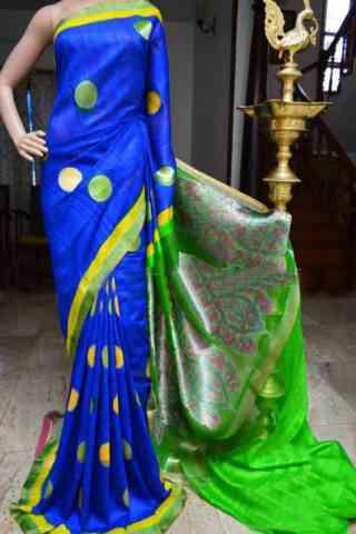 Mind Blowing Blue Color Soft Silk Designer Sarees - cnd952