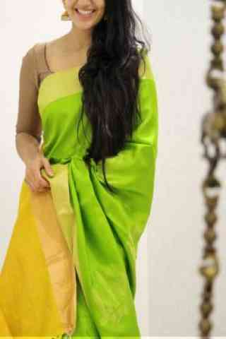 Attractive Green Color Soft Silk Designer Sarees - cnd973