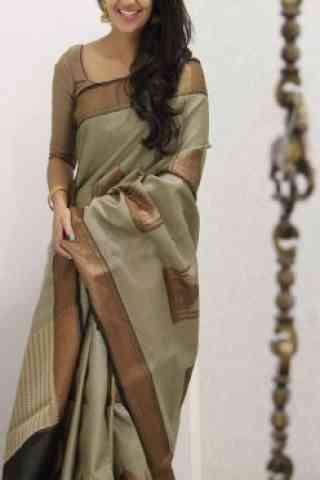 Unique Multi Color Soft Silk Designer Sarees - cnd979