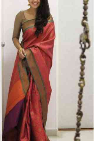 Unique Pink Color Soft Silk Designer Sarees - cnd980