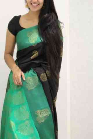 Amazing Black Color Soft Silk Designer Sarees - cnd994