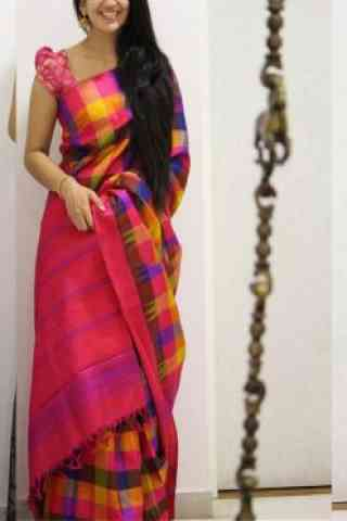 Modish Pink Color Soft Silk Designer Sarees - cnd998