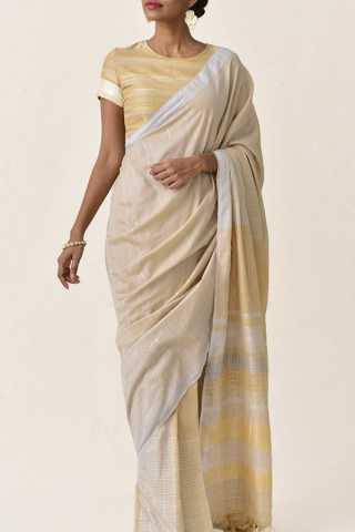 Classy and Subtle Cream Soft Silk Saree