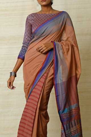 Beautiful Earthy Multicoloured Soft Silk Saree