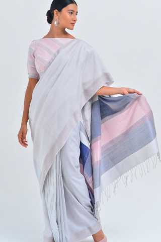 Extraordinary White Coloured Silk Saree