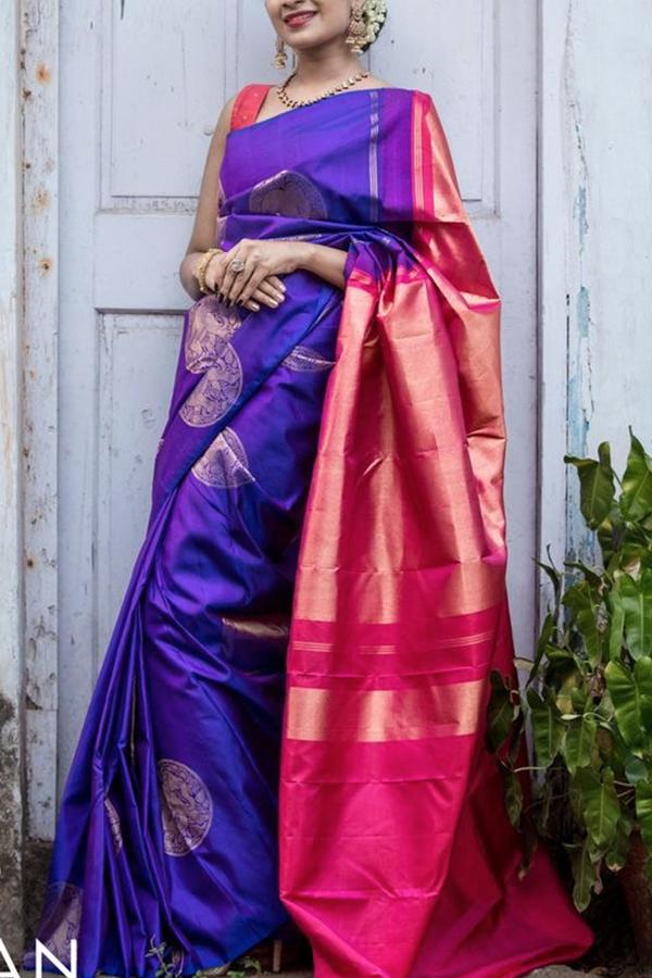 f2cee84824 ... Adorable Blue-Pink Colored Soft Silk Saree - CD151. CD151_1.jpg