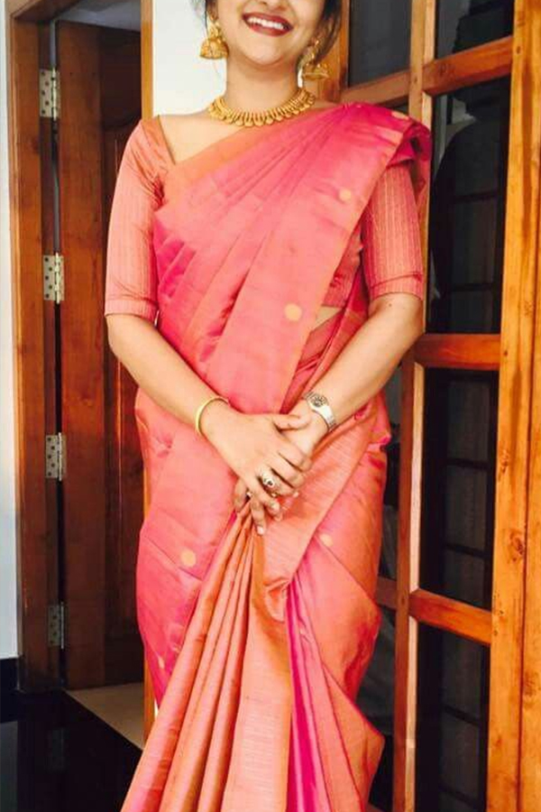3014b07da6 ... Stunning Pink Colored Soft Silk Fancy Partywear Functional Saree -  CD216. CD216_1.jpg