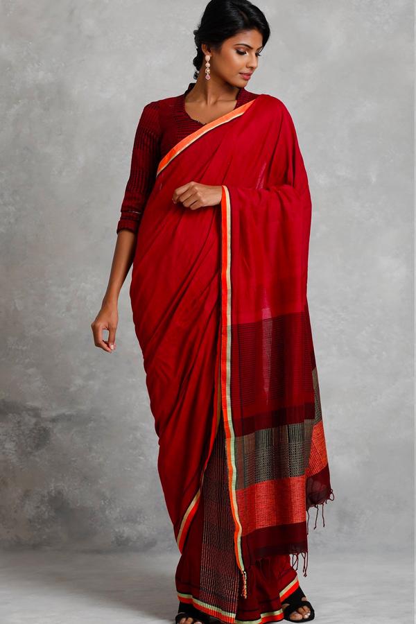 71b446b5953e0 ... Entrancing Red Colored Soft Silk Saree For Women. fm46 1.jpg