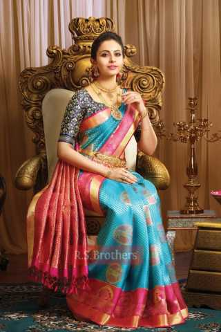 Traditional Sky Blue Color Soft Silk Designer Saree - CND2010